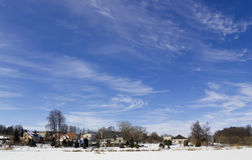 Winter rural  sky concept Stock Images