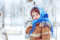 Winter in Russia Royalty Free Stock Images