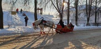 Winter in Russia stock image