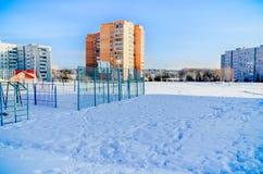 Winter in Russia stock photo