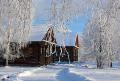 Winter russian country Royalty Free Stock Photo