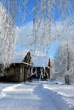 Winter Russian country stock image