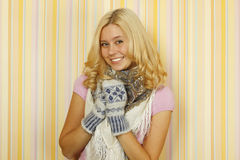 Winter Russian Woman Stock Photography