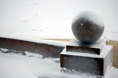 Winter in Russland Stockfoto