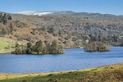 Winter at Rydal Water in the Lake District, Cumbria, England. Royalty Free Stock Photo