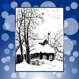A winter's day hand-painted Royalty Free Stock Photography
