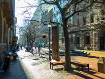 Winter's day in a pedestrian mall Stock Photography
