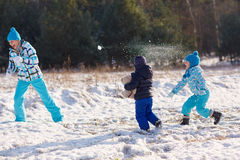 Winter's for family fun Royalty Free Stock Images