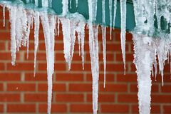 Winter's Icicles Royalty Free Stock Photography
