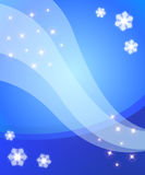 Winter's magic. Magical winter background with glowy snowflakes and stars Royalty Free Stock Photography