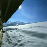 Winter's mountain scenery Royalty Free Stock Images