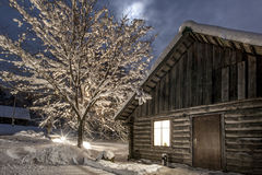 Winter's night at countryside Royalty Free Stock Image