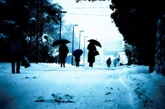 Winters people Royalty Free Stock Photo