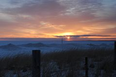 Winter's sunrise Stock Image