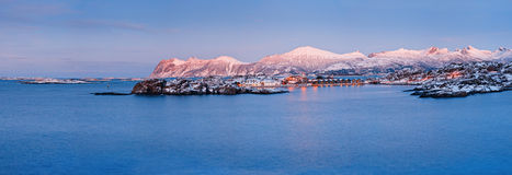 Winter's Tale.Panorama. Norway. Royalty Free Stock Image