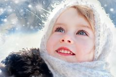 Winter's Tale. Portrait of country girl Royalty Free Stock Images