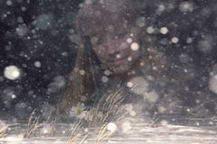 Winter sad stock photos