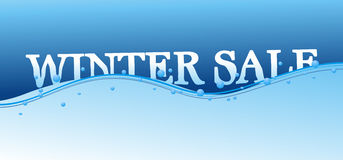 Winter sale. A design for winter sale Royalty Free Stock Images