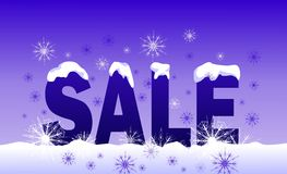 Winter sale. Word 'sale' on the white snow Stock Photo