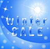 Winter sale,  Royalty Free Stock Image