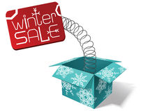 Winter sale. Vector illustration with a sign of winter sale Royalty Free Stock Photos