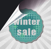 Winter sale Stock Photo