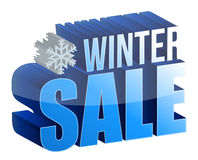 Winter sale 3d text. Illustration design over white Royalty Free Stock Image