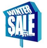 Winter sale signage Stock Photos