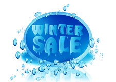 Winter sale logo. An illustration of a winter sale logo with bubbles on a white background Royalty Free Stock Images