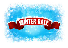 Winter sale abstract background banner Royalty Free Stock Image