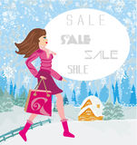 Winter sale Stock Photos