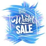 Winter sale advertise design Royalty Free Stock Photo