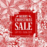 Winter sale advertise design Stock Image