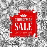 Winter sale advertise design Royalty Free Stock Image