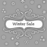 Winter Sale Advertisement Stock Photos