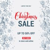 Winter sale advertising Royalty Free Stock Image