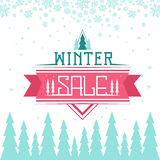 Winter Sale Background Stock Photos