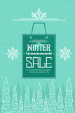 Winter Sale Background Stock Photo
