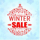 Winter sale background banner Royalty Free Stock Photography