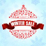Winter sale background banner Stock Image