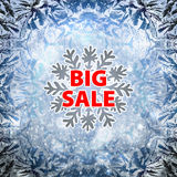 Winter sale background banner and snow. Christmas. New year. Vector Stock Image