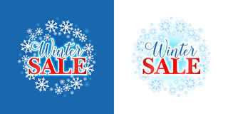 Winter sale background, emblem, badge. Sale. Winter sale. Christmas sale. New year sale. Royalty Free Stock Images