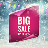 Winter sale background. EPS 10. Vector file included Royalty Free Stock Image