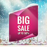 Winter sale background. EPS 10. Vector file included vector illustration