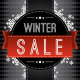 Winter sale background Stock Images