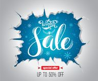 Winter Sale background for promotion Royalty Free Stock Photography