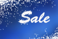 Winter sale background. With snow and snowflakes Royalty Free Stock Photography