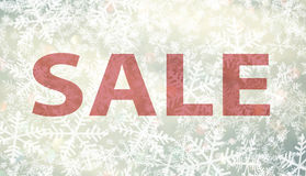 Winter sale background with snowflake Stock Photo