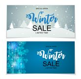Winter Sale Background Special Offer Banner Background. For Business and Advertising. Vector illustration. EPS10 Stock Photo