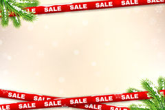 Winter sale background Royalty Free Stock Photo